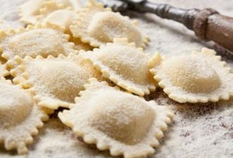Make typical ravioli and meatballs with a local chef