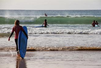 Single Group Surf Day (2 lessons) from Praia da Rocha